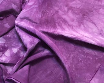 "Eggplant Purple - Hand Dyed Silk/ Cotton Habotai - 18""x27"""