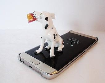 vintage dalmation miniature bone china figurine fire house dog