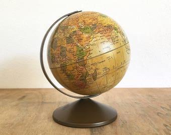 "Replogle 6"" Old World Tin Litho Globe The Revere"