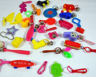 1980s Plastic Bell Charms - 1980s - Lot of