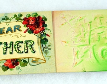 Lot of 2 Mother Postcards - Antique Post Cards - Vintage Mothers Day Embossed