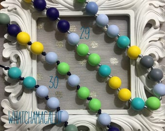Teething Necklaces, non toxic for baby, mama baby, etsy mama