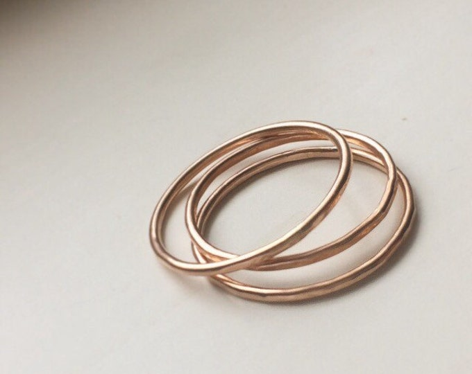 14K Rose Goldfill Stacking Ring SET - Ready to Ship