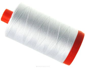 6 Pack of MK50 2021 - Natural White - Aurifil Cotton Thread Large Spool (1422 yds)