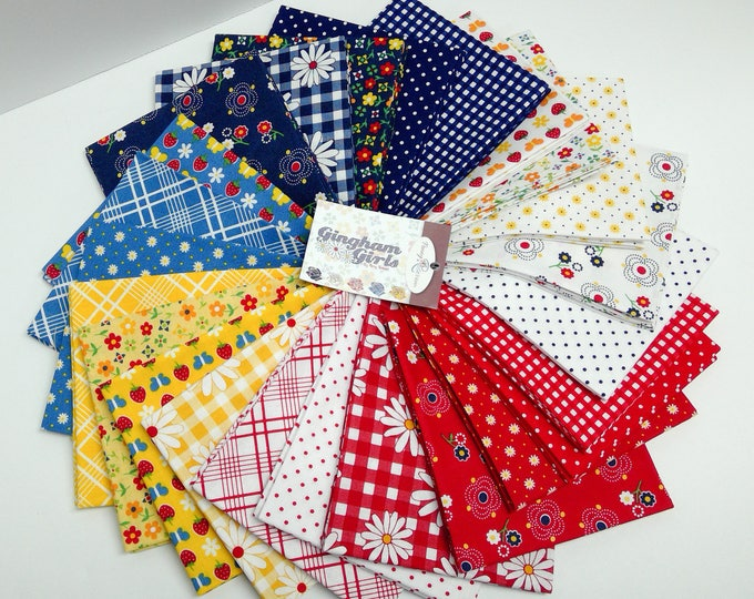 Featured listing image: Gingham Girls by Amy Smart Fat Quarter Bundle 24 Pcs. (FQ-5900-24)