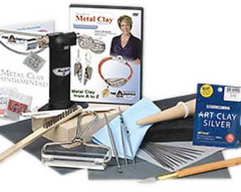 Art Clay Starter Kit with instructional DVD and Refillable Torch Free Shipping to USA
