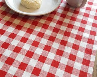Red Plaid/ Gingham Table Runner - Home Decor, Weddings, Receptions, Parties, Dining Table, Buffet - Premier Prints Plaid Lipstick