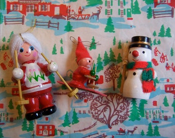 three little cute and adorable ornaments