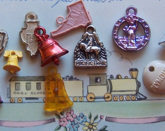 novelty states, countries and landmarks charms