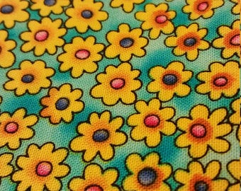 bright calico print fabric