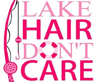 Lake Hair Don't Care Printed Vinyl Transfer For DIY T-Shirts