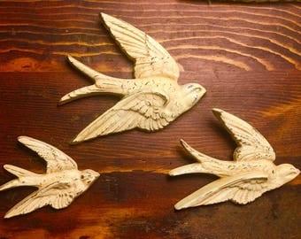 Set of 3 Vintage Burwood Birds