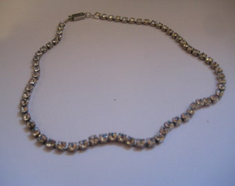 Rhinestone Chain Necklace in a Rainbow of Colors