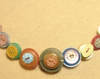 Pastel Button Necklace