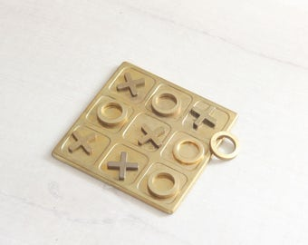 Brass Tic Tac Toe Game