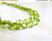 Love You 51% off Sale Peridot Briolette Gemstone Faceted Heart Bright Green 5.5mm 25 beads