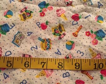 1.75 Yards of Schooltime Seersucker Fabric