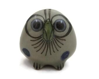 Miniature Pottery Owl - Ken Edwards Pottery, El Palomar Pottery Bird Figurine