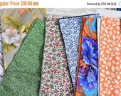 "FLASH SALE 15% OFF Set of 8  12"" 2 ply  Cotton Cloth Napkins Mixed Print"