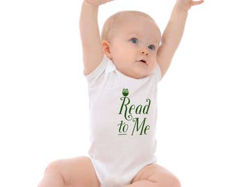 Baby bodysuit -Read to Me with Owl - shower gift - infant clothes - snap tshirt