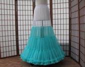 Petticoat Tiffany Blue Chiffon -- RESERVED for Alyssa Martin
