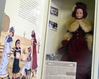 Victorian Barbie - Original Box  1994 - - Ice Skates - Fur Muff and Hat
