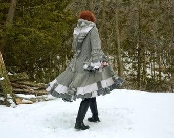 Limonium Grey 5X frankensweater upcycled gypsy coat sweater