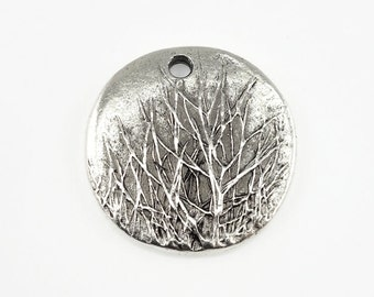 Winter Tree Charm Silver Charm Antique Silver Pendant by Nunn Design Silver Tree Pendant for Winter Jewelry Bare Branch Tree Woodland Forest