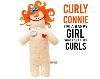 "The Mefits Curly Connie  ""I am a girl who loves my curl"""