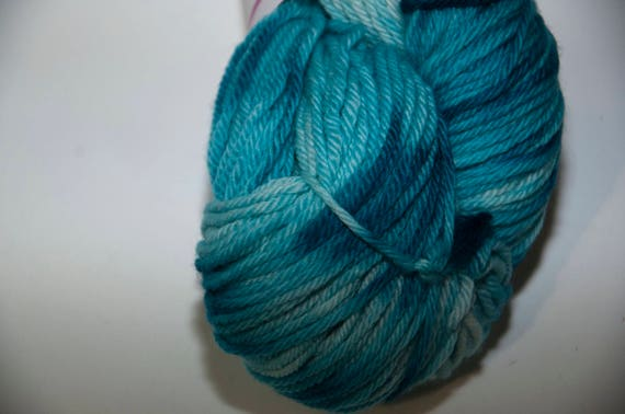 Hand-Dyed Ocean Colourway DK Yarn Merino Squishy Base