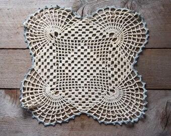 Antique Crochet Lace Doily, Crochet Lace, Vintage Crocheted Lace, Lace Doily, Vintage Textile, Sewing Supplies, Wall Decoration
