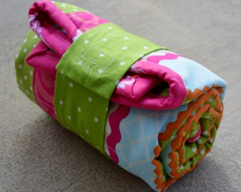 Owl Quilted Changing Pad ideal for diaper changing on the go