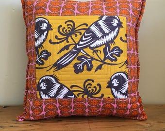 Small Framed Bird Pillow