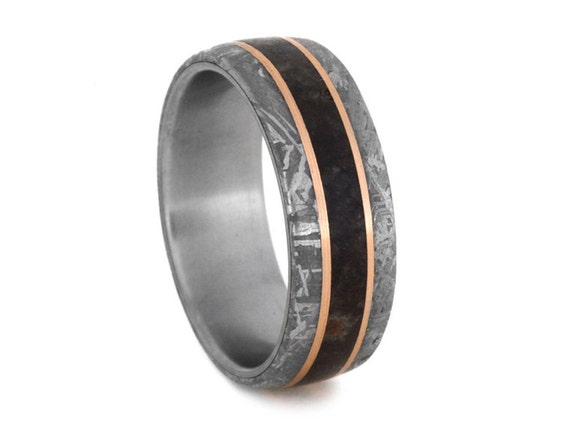 dinosaur bone wedding ring dinosaur bone wedding band mens meteorite ring with 14k 3550