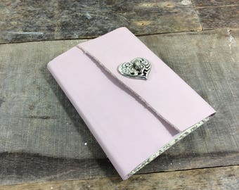 Pink feminine old fashiond Leather address book with tabs