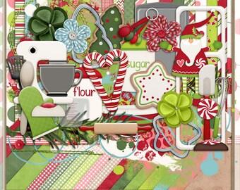 Baking Up Christmas Goodies Digital Scrapbook Kit
