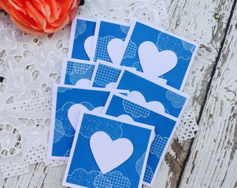 Mini Heart Cards Clouds Collection Set of 9