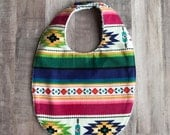 Bright Aztec Print Baby Bib