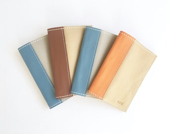 Leather Passport Cover - Custom Colors - Passport Cover - Genuine Leather