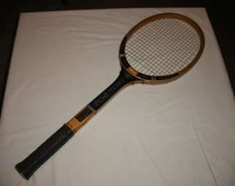 Vintage Wilson Stroke Master Wooden Tennis Racket Racquet Man Cave Sports Decoration Decor (Court)