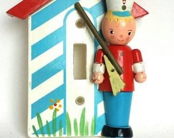 Vintage Irmi Soldier Nursery Switchplate