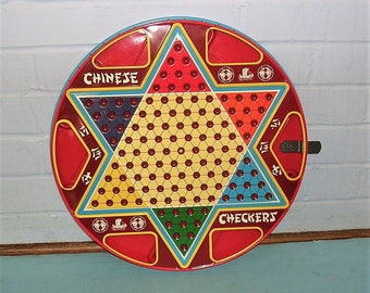 Vintage Chinese Checkers Vintage Ohio Art Co. Chinese Checkers In Original Box