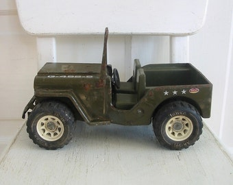 Vintage Metal Jeep, Willys Jeep, Toy Truck, Green Jeep, Toy Jeep, Tonka Jeep, Army Green Jeep, Army Jeep