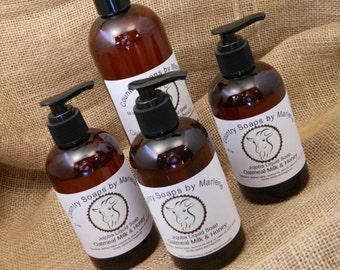 Oatmeal Milk and Honey Liquid Hand Soap 8 oz bottle with pump
