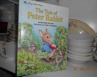 1993 The Tale of Peter Rabbit By Beatrix Potter Illustrated by Cyndy Szekeres Lg HB Book
