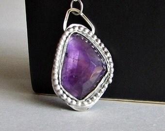Modern Amethyst Necklace - February Birthstone - Purple Amethyst Jewelry - February Birthday Gift - Ultraviolt - Pantone 2018