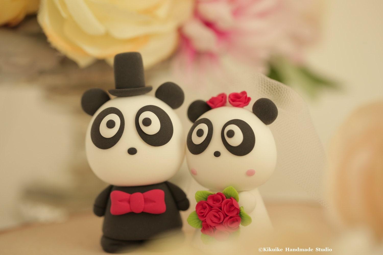 Panda wedding cake topper [E10261624442414694M] - $43.99 : Spotfond.top