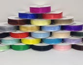 "OVERSTOCK SALE....Satin Edge Organza Ribbon- 7/8""x 25 yds ...your choice of colors"