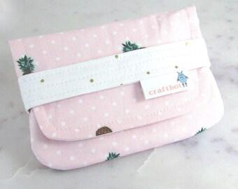 Sanitary Pad Holder, Period Bag, Pineapple Print, Pink Polka Dot, Period Kit, Pads Pouch, Sanitary Napkins Bag, Period Pads, Tampon Case