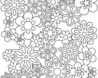 Stencil: Gathered Flower 12 in x 12 in